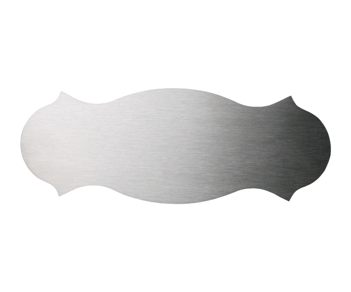 Stainless Steel Door Plate 120x45mm